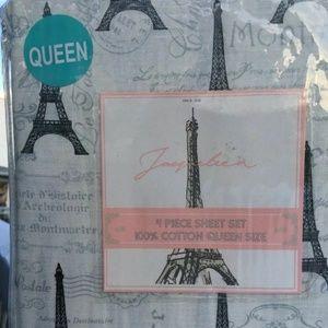 FLASH SALE Jacqueleen PARIS FRANCE Queen Sheet Set